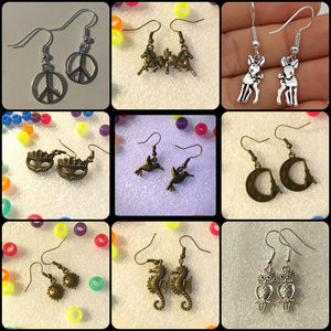EARRINGS - 4 for $20 - random - cute retro jewelry